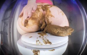 Thick Poop vs. Soft Shit with DirtyBetty Panty Girl [FullHD]