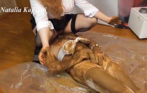 Eat heaps of shit, you public toilet with Mistress Scat Slave