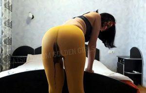 Shit in yellow tights with Tatiana Svetlana [FullHD]