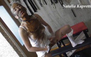 Sly toilet slut, shitting and eating shit with Mistress Natalia Kapretti