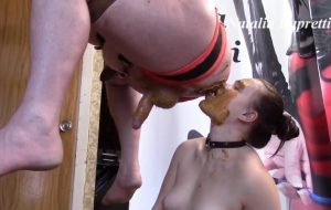 Suck cock, suck shit, do dirty minet with Mistress Scat Slave Video