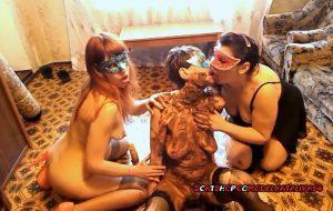 Yana, Olga and Svetlana made a dirty show with ModelNatalya94 Lesbian SCAT [FullHD / 2020]